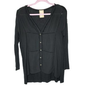 Anthro Dolan long sleeves frayed button down tunic